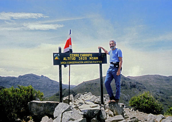 Photograph - 1m51764 Ed Cooper On Summit Of Cerro Chirripo Costa Rica by Ed Cooper Photography