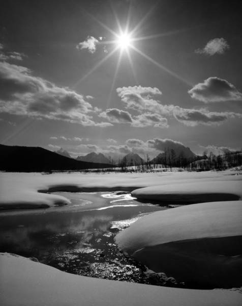 Photograph - 1m9203 Sunburst Over The Snake River, Tetons by Ed  Cooper Photography