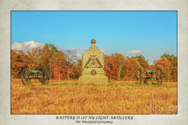 Battery D Wall Art - Digital Art - 1st New York Battery D Gettysburg Poster by Randy Steele