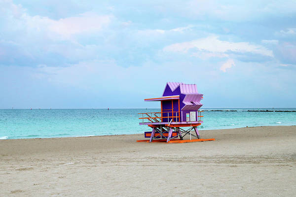 Wall Art - Photograph - 1st Street Lifeguard Tower - Miami Beach by Art Block Collections