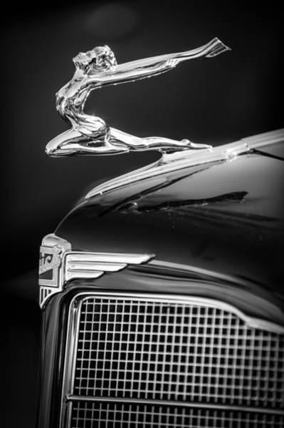 Photograph - 1934 Buick Series 96-c Convertible Coupe Hood Ornament - Emblem by Jill Reger