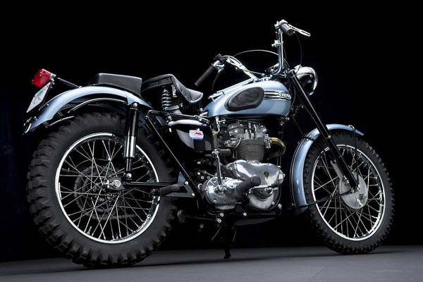 Photograph - 1949 Triumph Trophy by Keith May