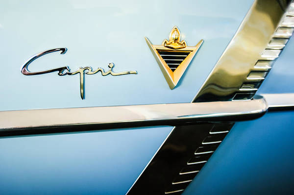 Photograph - 1953 Lincoln Capri Emblem by Jill Reger