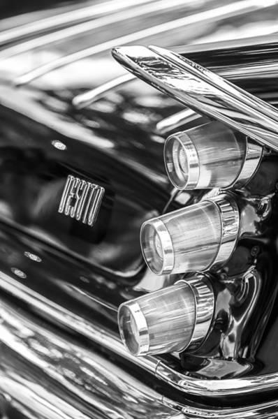 Photograph - 1959 Desoto Adventurer Hardtop Coupe 2-door Taillight Emblem by Jill Reger