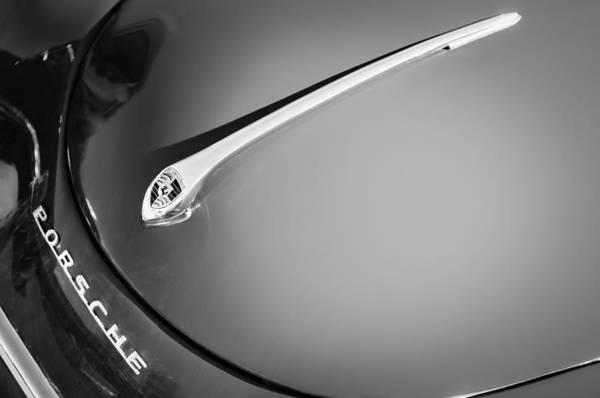 Cabriolet Photograph - 1959 Porsche 1600 Cabriolet Hood Ornament by Jill Reger