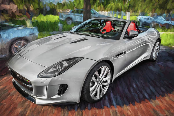 Photograph - 2014 Jaguar F Type V8 Convertible Painted   by Rich Franco