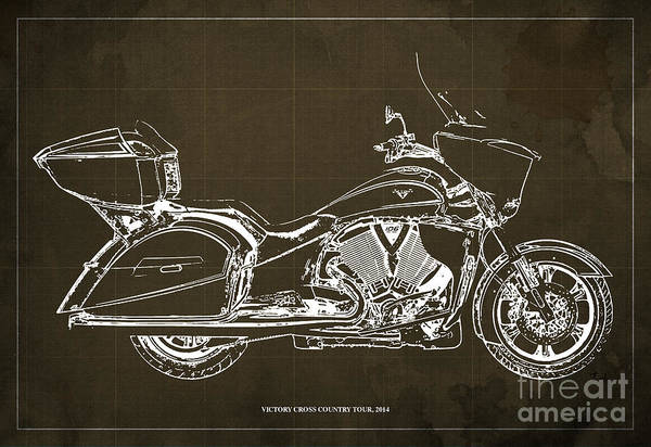 Wall Art - Digital Art - 2014 Victory Cross Country Tour Blueprint by Drawspots Illustrations