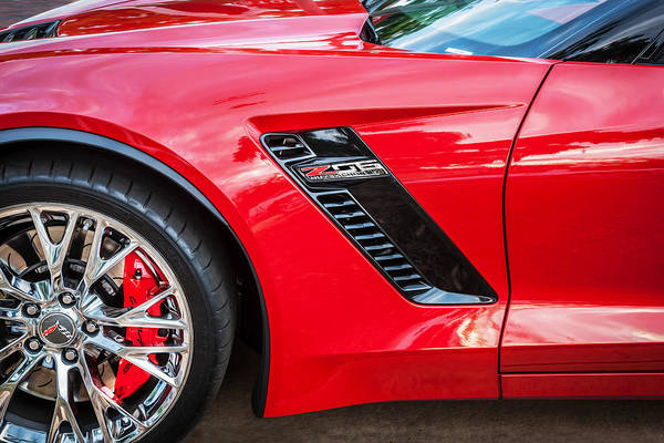 Mag Wheels Wall Art - Photograph - 2015 Chevrolet Corvette Z06 Painted  by Rich Franco