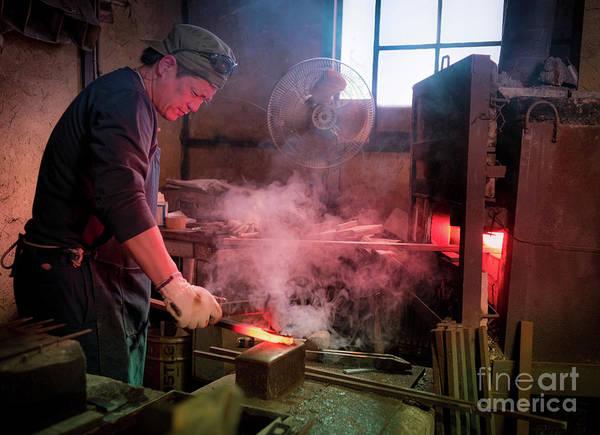 4th Generation Blacksmith, Miki City Japan Art Print
