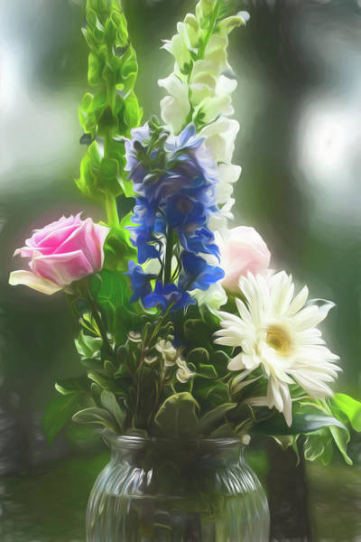 Photograph - A  Beautiful Flower Arrangement by Rusty R Smith