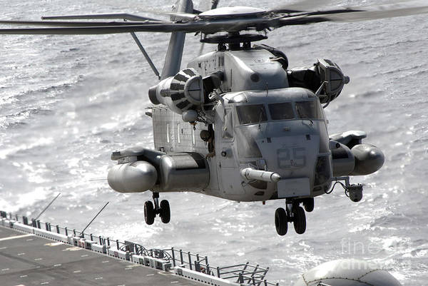 Rotor Photograph - A Ch-53e Super Stallion Helicopter by Stocktrek Images