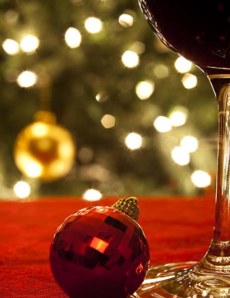Christmas Tree Photograph - A Drink By The Tree by Andrew Soundarajan