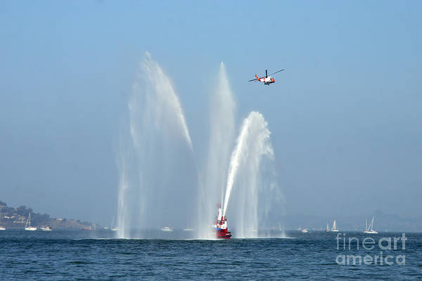 Fireboat Wall Art - Photograph - A Fire Boat by Ted Kinsman