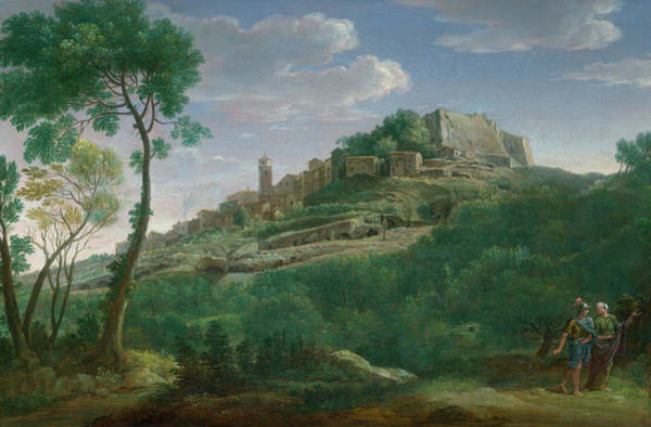Wall Art - Painting - A Landscape With An Italian Hill Town by Hendrik Frans van Lint