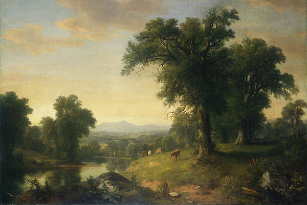 Painting - A Pastoral Scene by Asher Brown Durand