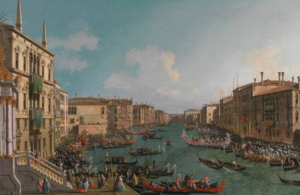Annual Painting - A Regatta On The Grand Canal by Canaletto