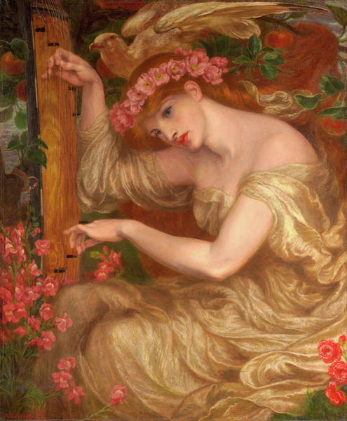 Wall Art - Painting - A Sea - Spell by Dante Gabriel Rossetti