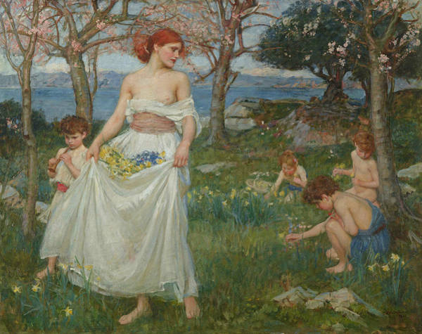 Painting - A Song Of Springtime by John William Waterhouse