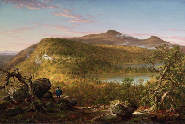Catskills Painting - A View Of The Two Lakes And Mountain House, Catskill Mountains, Morning by Thomas Cole