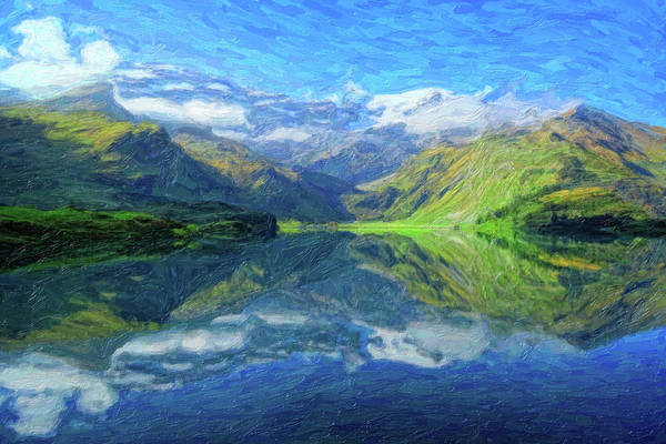 Painting - Abstract Andean Landscape by Adam Asar