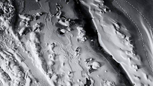 Photograph - Abstract Ice Snow Patterns In Winter In Black And White by John Williams