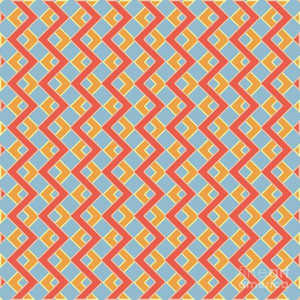 Wall Art - Digital Art - Abstract Orange, White And Red Pattern For Home Decoration by Drawspots Illustrations