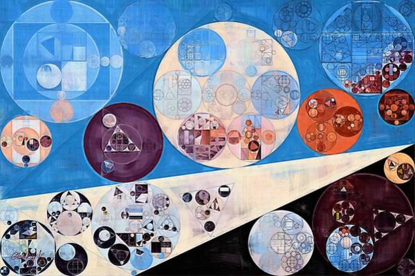 Gradient Digital Art - Abstract Painting - Curious Blue by Vitaliy Gladkiy