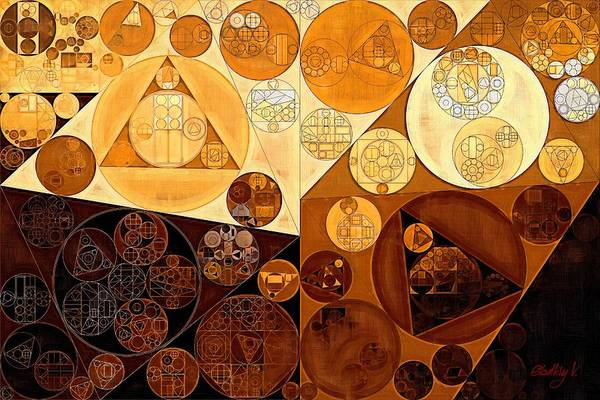 Effect Digital Art - Abstract Painting - Light Brown by Vitaliy Gladkiy