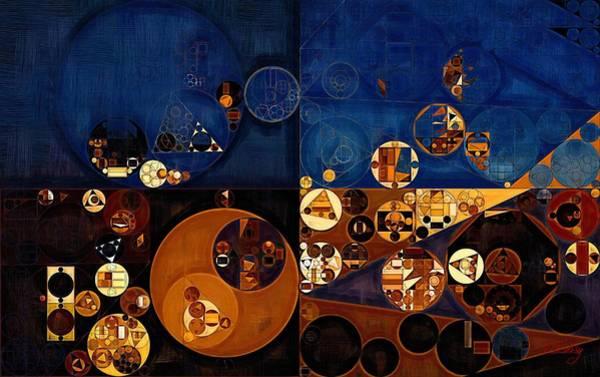 Gradient Digital Art - Abstract Painting - Sapphire by Vitaliy Gladkiy