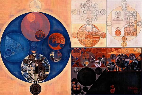Wall Art - Digital Art - Abstract Painting - Sepia by Vitaliy Gladkiy