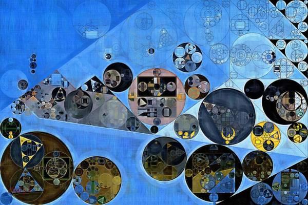 Gradient Digital Art - Abstract Painting - Tufts Blue by Vitaliy Gladkiy