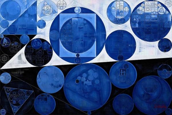 Effects Digital Art - Abstract Painting - Yale Blue by Vitaliy Gladkiy