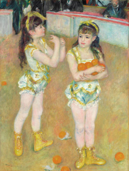 Circus Clown Painting - Acrobats At The Cirque Fernando by Pierre-Auguste Renoir