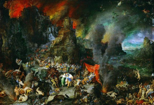 The Elder Painting - Aeneas And Sibyl In The Underworld by Jan Brueghel the Elder