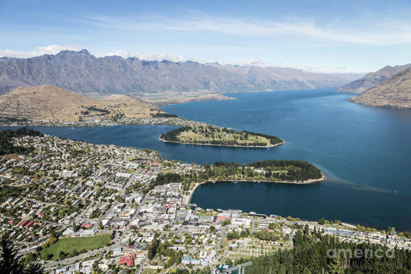 Photograph - Aerial View Of Queenstown In New Zealand by Didier Marti