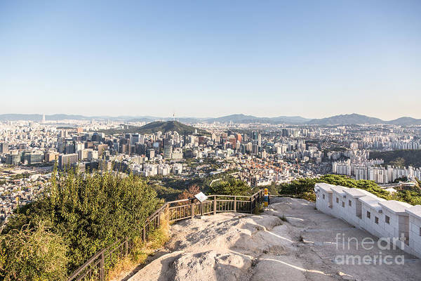 Photograph - Aerial View Of Seoul, South Korea Capital City by Didier Marti