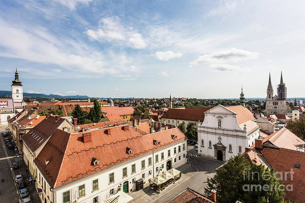 Photograph - Aerial View Of Zagreb In Croatia by Didier Marti