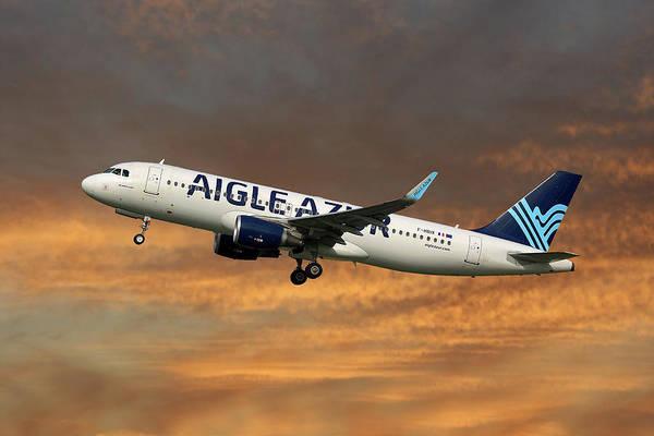 Airbus A320-214 Wall Art - Photograph - Aigle Azur Airbus A320-214 by Smart Aviation