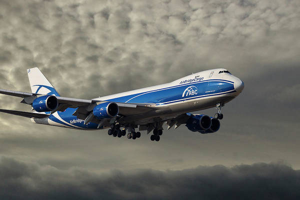 747 Wall Art - Photograph - Air Bridge Cargo Airlines Boeing 747-8hv by Smart Aviation