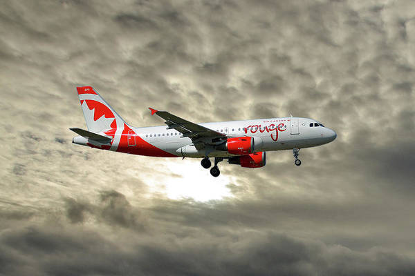 Canadian Photograph - Air Canada Rouge Airbus A319-114 by Smart Aviation