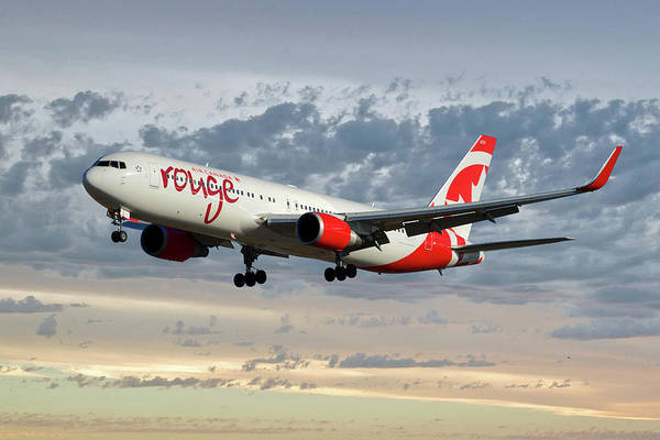 Boeing 767 Wall Art - Photograph - Air Canada Rouge Boeing 767-333 114 by Smart Aviation