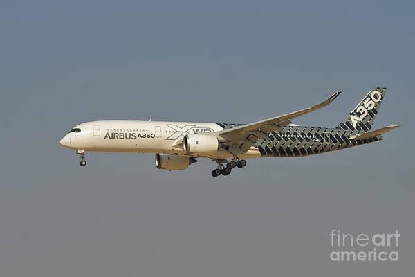 Carbon Fiber Photograph - Airbus A350 At Dubai Air Show, Uae by Ivan Batinic