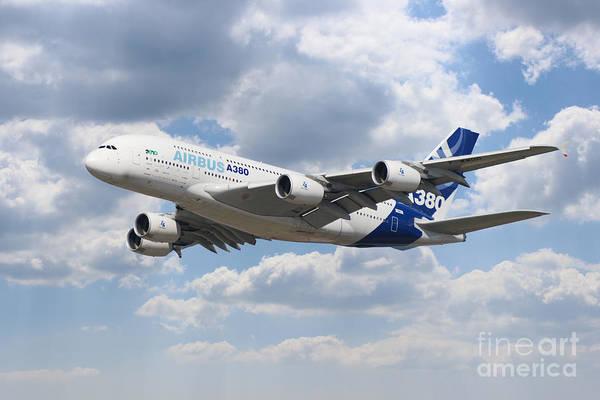 Airbus A380 Wall Art - Digital Art - Airbus A380 by J Biggadike