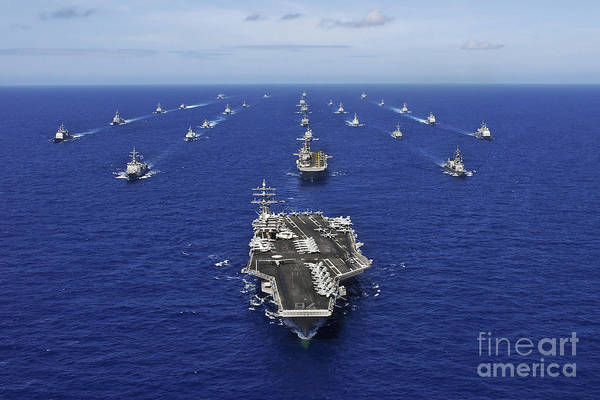 Cruiser Wall Art - Photograph - Aircraft Carrier Uss Ronald Reagan by Stocktrek Images