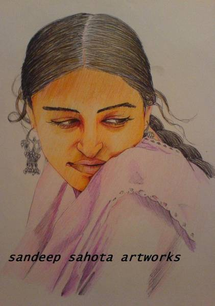 Dwayne Johnson Wall Art - Painting - Aishwariya Rai Bachchan by San Art Studio