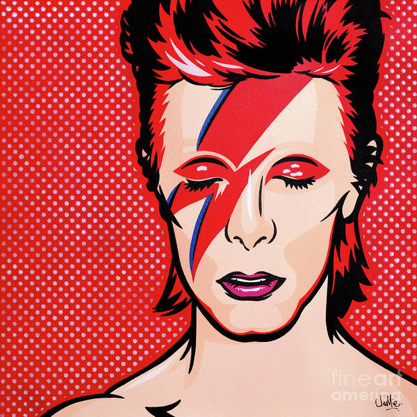 Bowie Painting - Aladdin Sane by James Lee