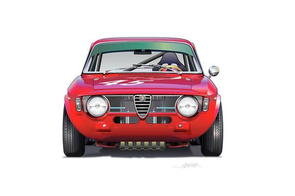 Wall Art - Digital Art - Alfa Romeo Gtv Illustration by Alain Jamar