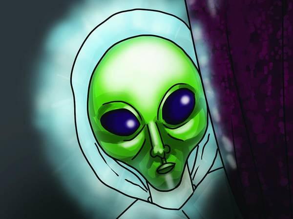 Alien Digital Art - Alien by Maye Loeser