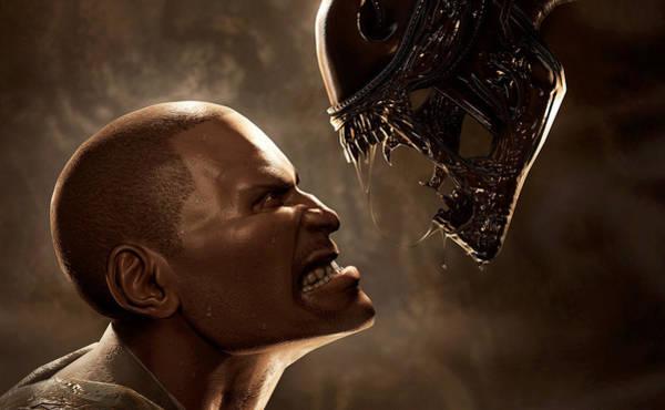 Alien Digital Art - Aliens Vs. Predator by Super Lovely
