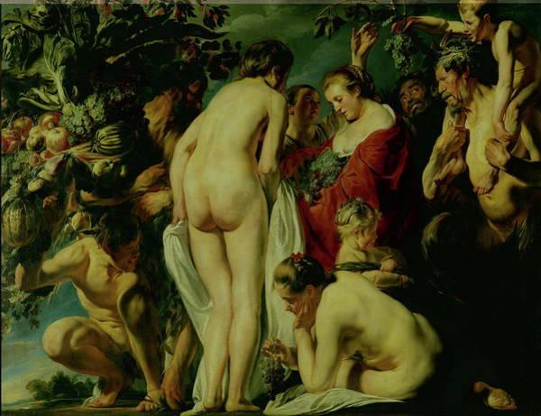 Goddess Of Love Wall Art - Painting - Allegory Of Fertility by Jacob Jordaens